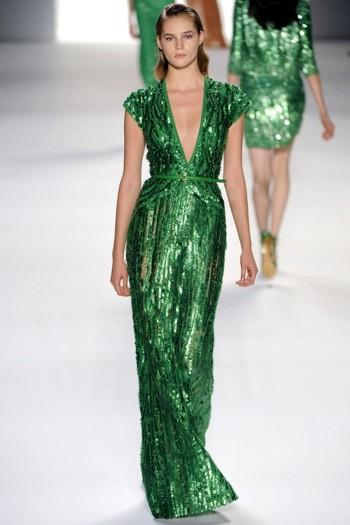 abito verde smeraldo tendenza pe 2013