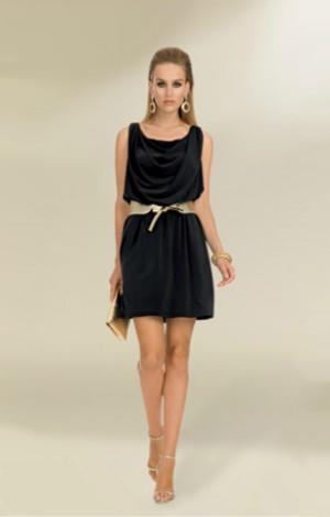 luisa spagnoli abito nero pe 2013