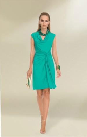 luisa spagnoli abito verde pe 2013