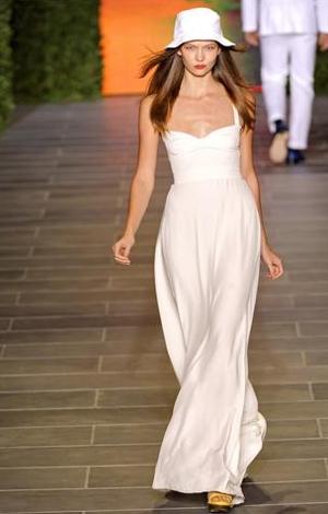tommy hilfiger abito bianco primavera estate 2011