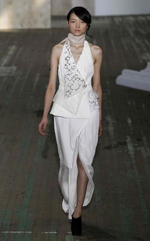 phillip lim abito bianco primavera estate 2011