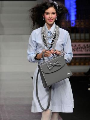 camomilla milano borsa grigia fiocco ai 2010