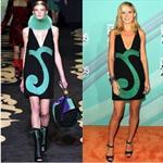 Heidi Klum indossa un minidress firmato Versace