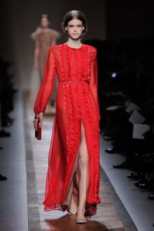 valentino abito lungo rossoprimavera estate 2011