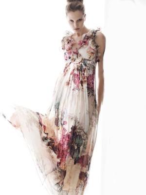 anna rachele abito lungo primavera estate 2011