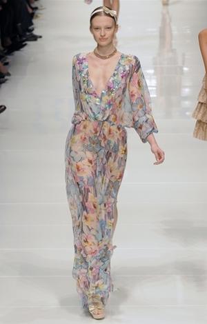 blugirl abito lungo primavera estate 2011
