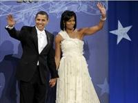 Il presidente degli USA Obama balla con sua moglie Michelle
