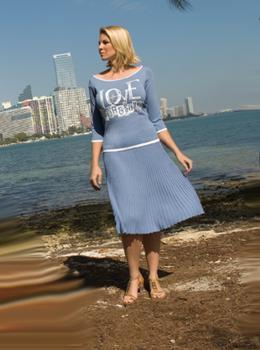 mara carol collezione primavera estate 2010 plisse abito blu