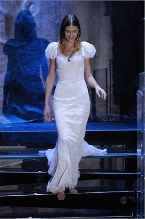 bianca balti sanremo 2013 abito bianco