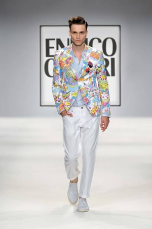 enrico coveri giacca stampe pe 2013